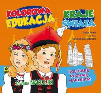 Kolorowa edukacja Kraje świata - okładka książki