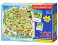 Puzzle 100 maxi mapa polski - zdjęcie zabawki, gry