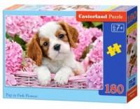 Puzzle 180 piesek w koszyku - zdjęcie zabawki, gry
