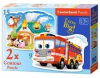Puzzle 2w1 maxi straż pożarna w akcji - zdjęcie zabawki, gry