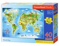 Puzzle 40 maxi mapa świata - zdjęcie zabawki, gry