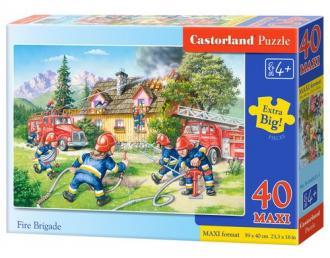 Puzzle 40 maxi strażacy - zdjęcie zabawki, gry