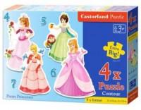 Puzzle 4w1 maxi księżniczki - zdjęcie zabawki, gry