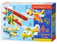 Puzzle 4W1. MAXI Samoloty - zdjęcie zabawki, gry