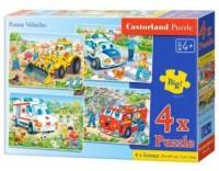Puzzle 4W1. Pojazdy ratunkowe - zdjęcie zabawki, gry