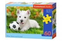 Puzzle 60 pies z piłką - zdjęcie zabawki, gry