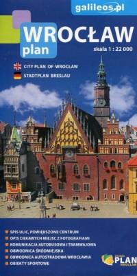 Wrocław plan miasta 1:22 000 - okładka książki