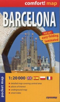 Barcelona plan miasta 1:20 000 - okładka książki