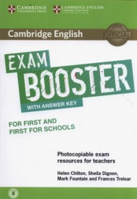 Cambridge English Exam Booster for First and First for Schools with Answer Key with Audio Photocopiable Exam Resources for Teachers - okładka płyty