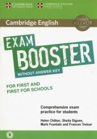 Cambridge English Exam Booster for First and First for Schools with Audio  Comprehensive Exam Practice for Students - okładka podręcznika