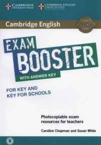 Cambridge English Exam Booster for Key and Key for Schools with Answer Key with Audio Photocopiable Exam Resources for Teachers - okładka płyty