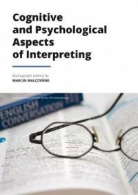 Cognitive and Psychological Aspects - okładka książki