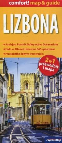 Lizbona 2w1 przewodnik i mapa - - okładka książki