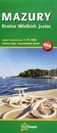 Mazury. Kraina Wielkich Jezior mapa turystyczna 1:75 000 - okładka książki