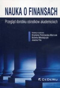 Nauka o finansach. Przegląd dorobku - okładka książki