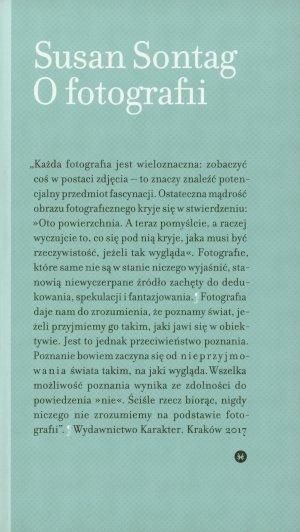 O fotografii - okładka książki