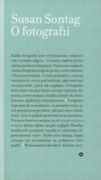 O fotografii - Susan Sontag - okładka książki