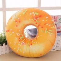Poduszka dekoracyjna donut pomarańczowy - okładka książki