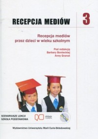 Recepcja mediów 3 + CD. Recepcja - okładka książki