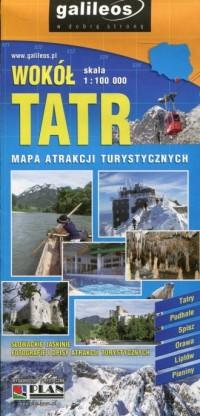 Wokół Tatr mapa atrakcji turystycznych 1:100 000 - okładka książki