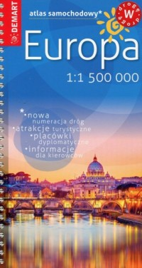 Europa atlas samochodowy mały 1:1 500 000 - okładka książki