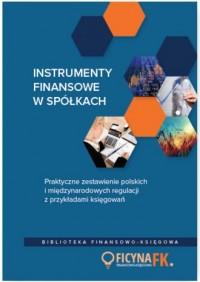 Instrumenty finansowe w spółkach. - okładka książki