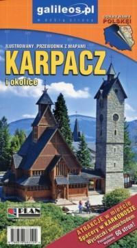Karpacz i okolice Ilustrowany przewodnik z mapami - okładka książki