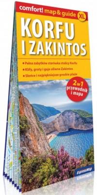 Korfu i Zakintos comfort! map&guide. - okładka książki