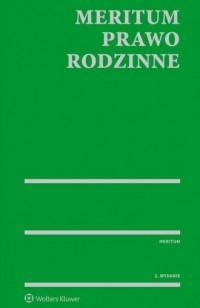 Meritum. Prawo rodzinne - Wydawnictwo - okładka książki