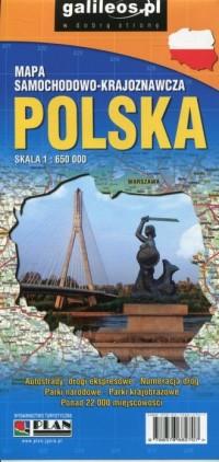 Polska mapa samochodowo-krajoznawcza 1:650 000 - okładka książki