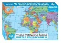 Puzzle 260 Mapa polityczna świata - zdjęcie zabawki, gry