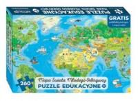 Puzzle 260 Mapa świata młodego odkrywcy - zdjęcie zabawki, gry