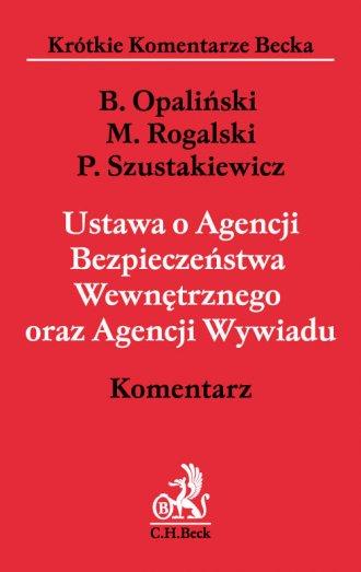 Ustawa o Agencji Bezpieczeństwa - okładka książki