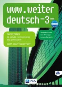 www.weiter deutsch 3. Gimnazjum. - okładka podręcznika