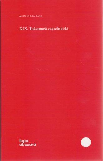 XIX. Tożsamość czytelniczki - okładka książki