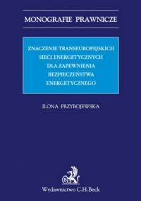 Znaczenie transeuropejskich sieci - okładka książki