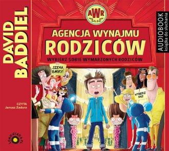 Agencja Wynajmu Rodziców - pudełko audiobooku