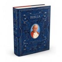 Biblia domowa z Janem Pawłem II - okładka książki