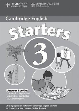 Cambridge English Starters 3 Answer - okładka podręcznika