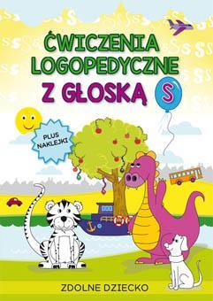 Ćwiczenia logopedyczne z głoską - okładka książki