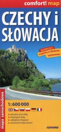 Czechy i Słowacja mapa samochodowa - okładka książki