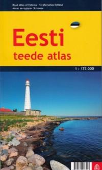 Estonia atlas samochodowy 1:175 000 - okładka książki