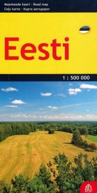 Estonia mapa samochodowa 1:500 000 - okładka książki