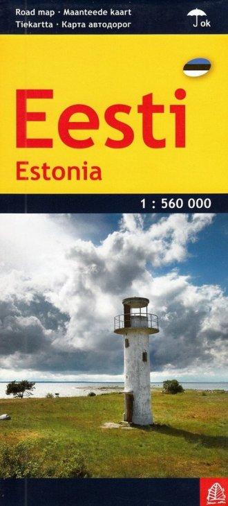 Estonia mapa samochodowa 1:560 - okładka książki