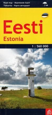 Estonia mapa samochodowa 1:560 000 - okładka książki