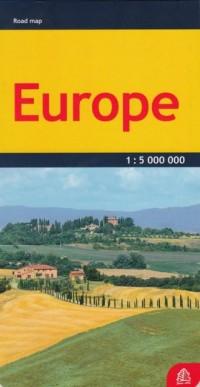 Europa mapa samochodowa 1:5 000 000 - okładka książki
