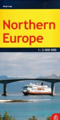Europa północna mapa samochodowa 1:2 000 000 - okładka płyty