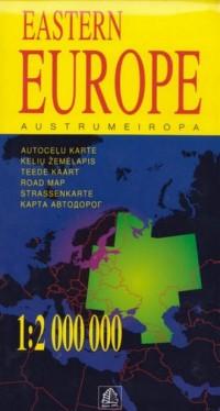 Europa Wschodnia mapa samochodowa 1:2 000 000 - okładka książki