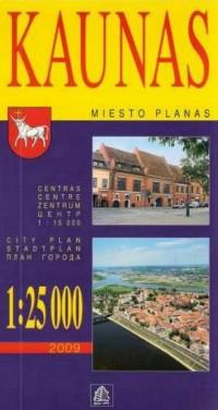 Kowno plan miasta 1:25 000 - okładka książki