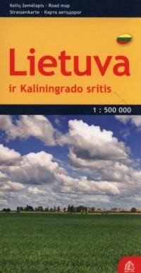Litwa mapa samochodowa 1:500 000 - okładka książki